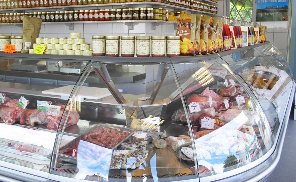Vitrines frigorifiques Froid du Born en boucherie-charcuterie
